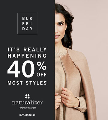 Naturalizer Black Friday | Black Friday Deals | Time To Save Now! Catch huge savings with this Free Shipping Naturalizer Coupon code. Save up to 50% OFF with those Naturalizer coupons and discounts for November