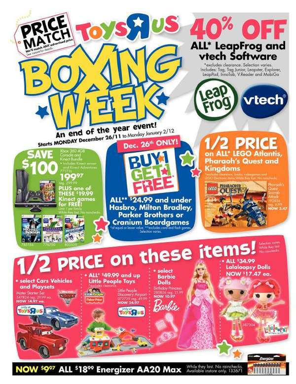 R Flyers R Us Boxing week flyer Dec