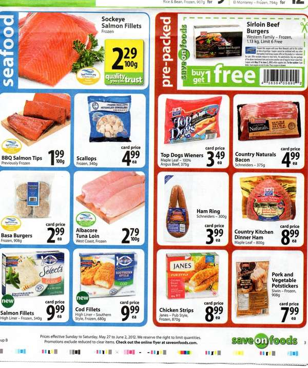 This large Western Canadian supermarket offers low prices and wide choice on a large selection of grocery products. Supporting local growers and suppliers, Save on Foods meat and produce is always fresh. A pharmacy, gas bar, full-service deli, bakery, and .