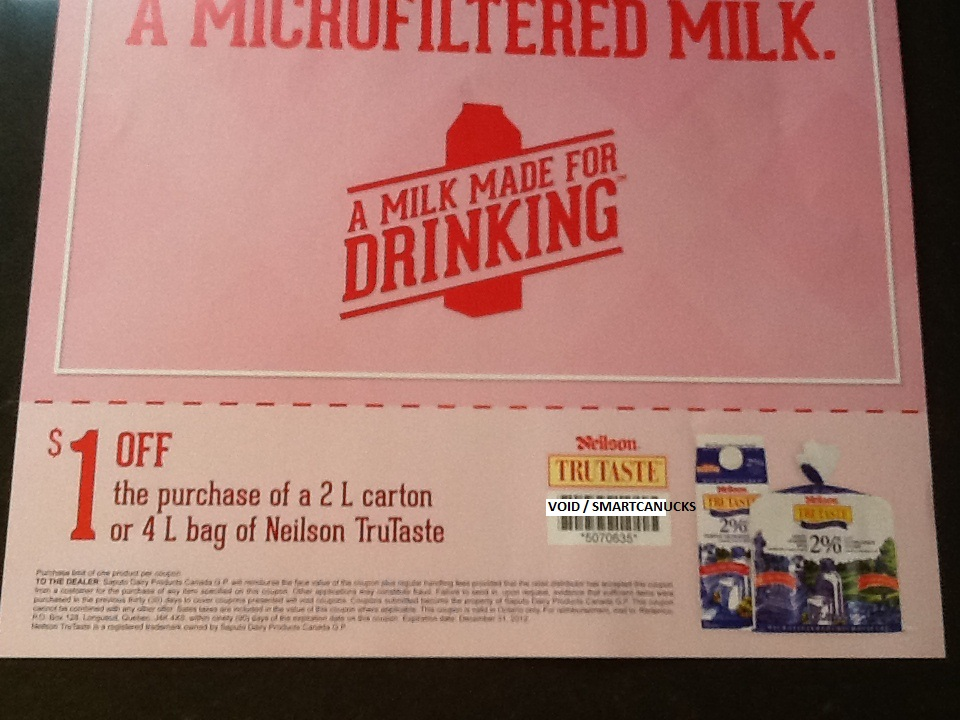 Neilson milk coupons canada