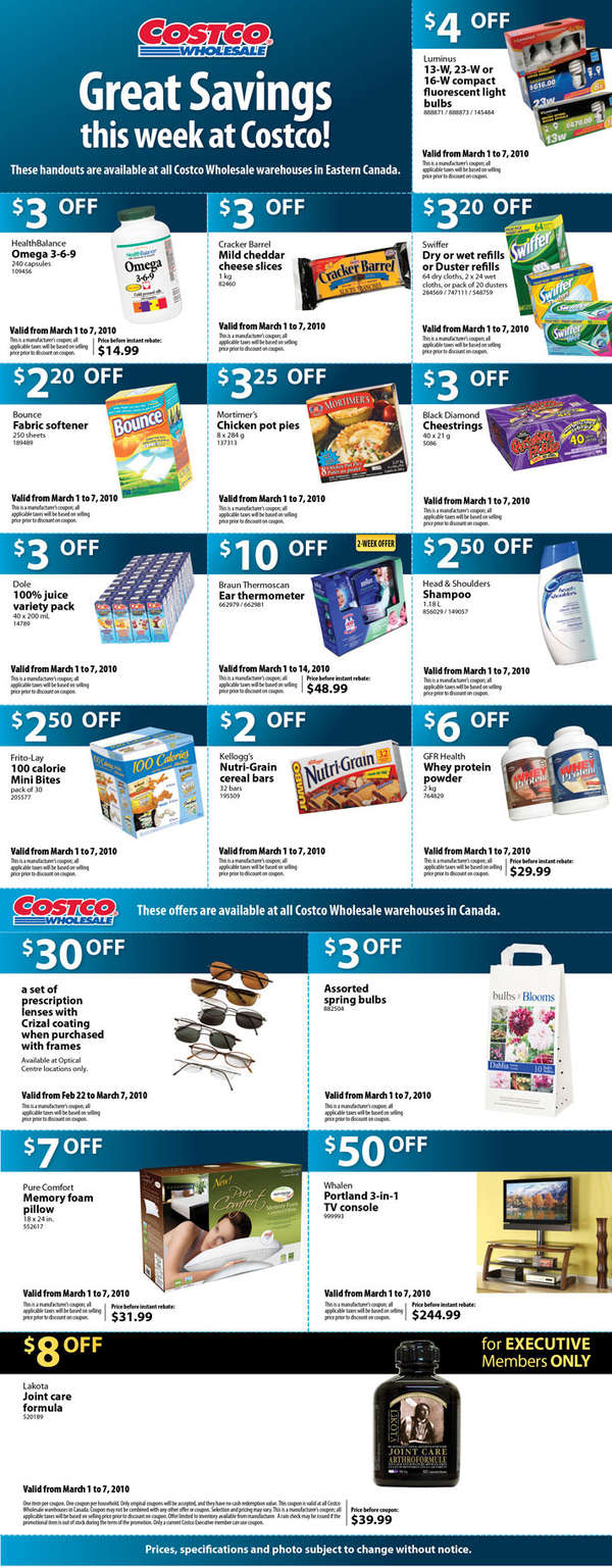 costco coupons  february 2010
