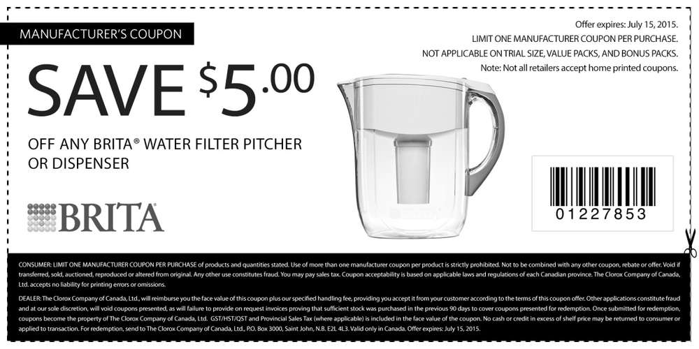 Grab a Brita Water Pitcher with Filter for only $ – originally $ It's 30% off along with some other Brita Products leading up to Amazon Prime Day. Details.