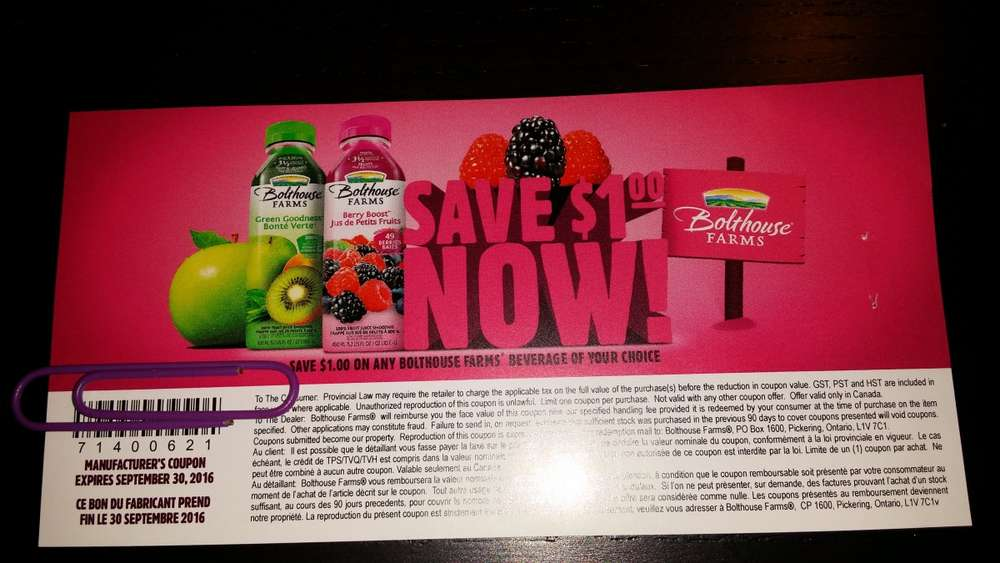 Coupons bolthouse farms