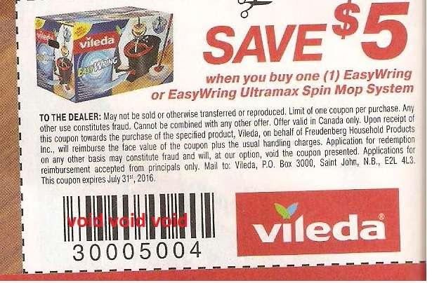vileda coupon code