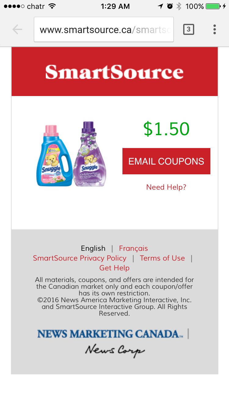 Downloadable coupons canada