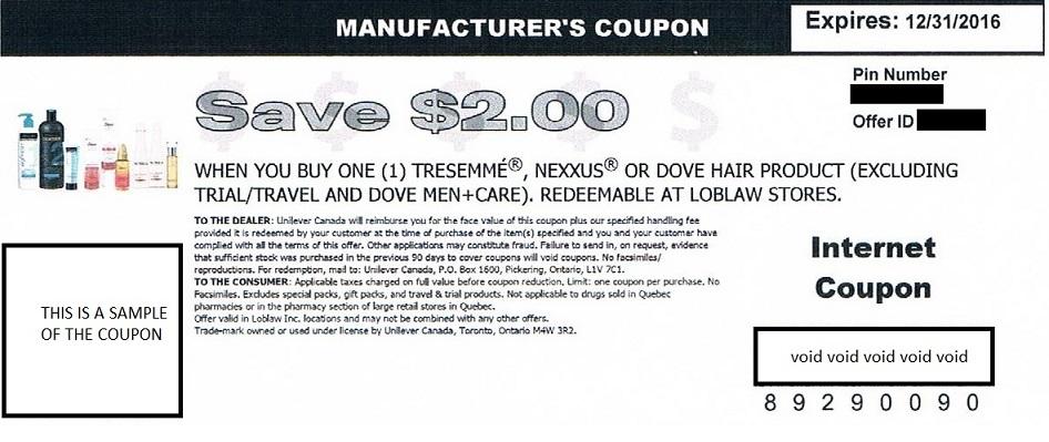 Nexxus manufacturer coupons