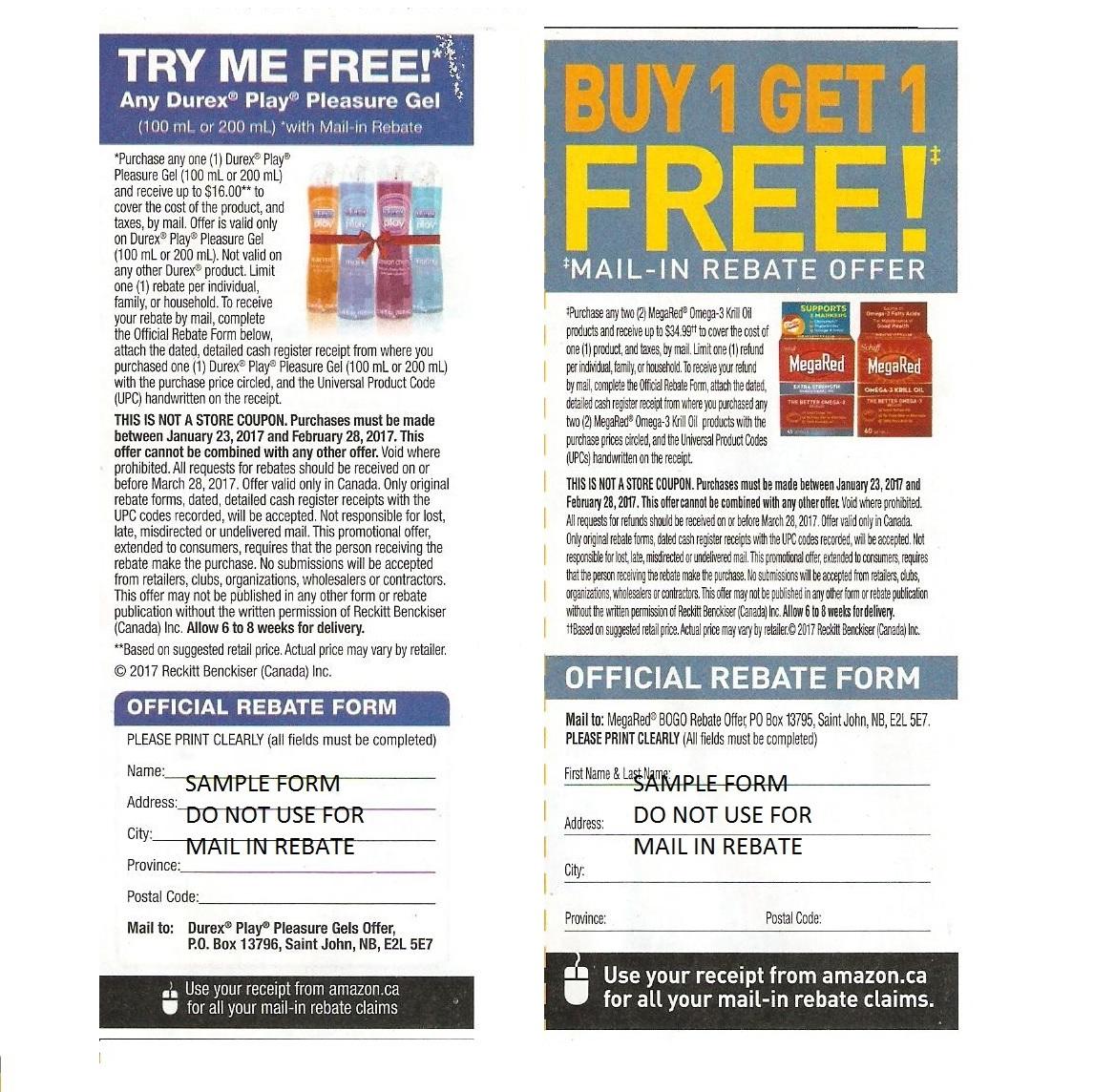 Magazine coupon dimensions