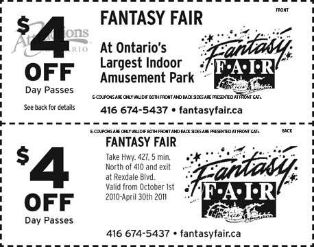 Fair discount coupons