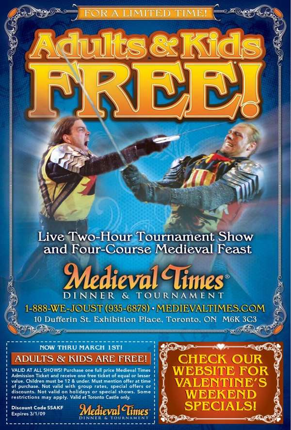 Coupon code for medieval times