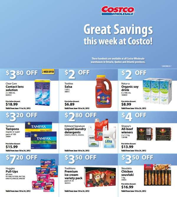 Deal Costco Canada Online Offers Valid From Feb 28 To Mar: Coupon Costco Weekly Savings For Eastern Canada Jun 18 To