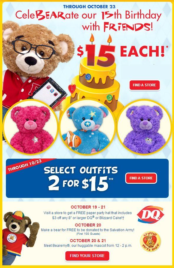 Build A Bear Coupons Birthday