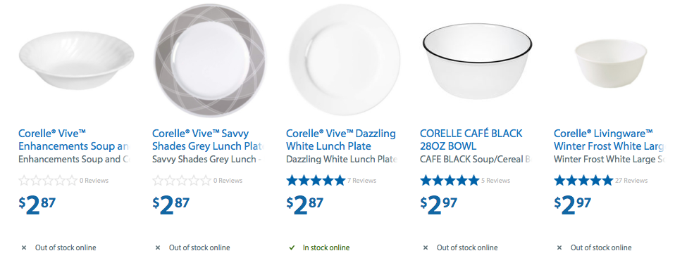 Walmart 50 Off Corelle Single Plates Bowls Dishes