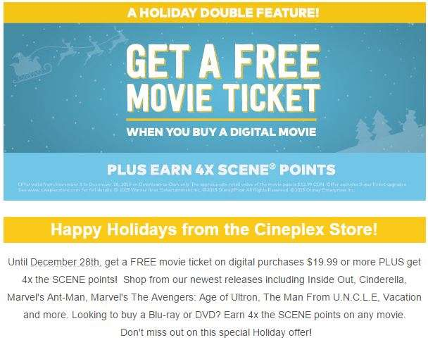 Cineplex and M&M's partnered together and are offering great new limited time exclusive free movie tickets! Right now, when you purchase any 5 specially marked M&M's candy package you can upload photos of your receipts for 1 free Cineplex movie ticket!