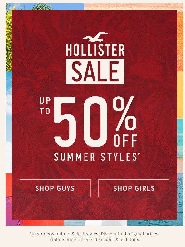 Hollister Sale: Save up to 50% on Summer Styles in-stores ...
