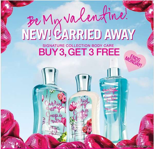 Deal Bath & Body Works CAN - Signature Collection Body Care Buy 3