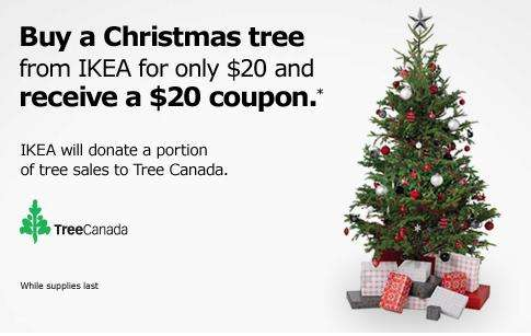 Ikea buy a christmas tree for 20 get a 20 coupon for Buy ikea voucher online