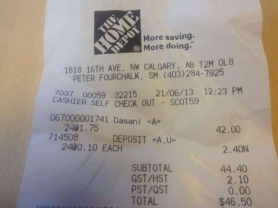 Home Depot Receipt Codes submited images.
