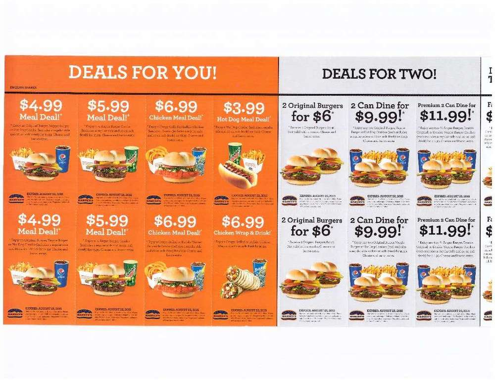 Harvey's canada coupons