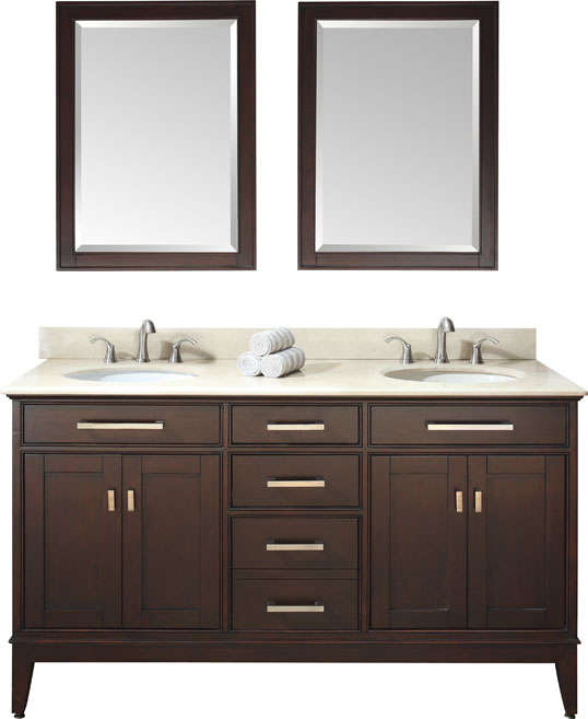 Warehouse Sale Of Bathroom Vanities With Marble Tops And Undermount Sinks
