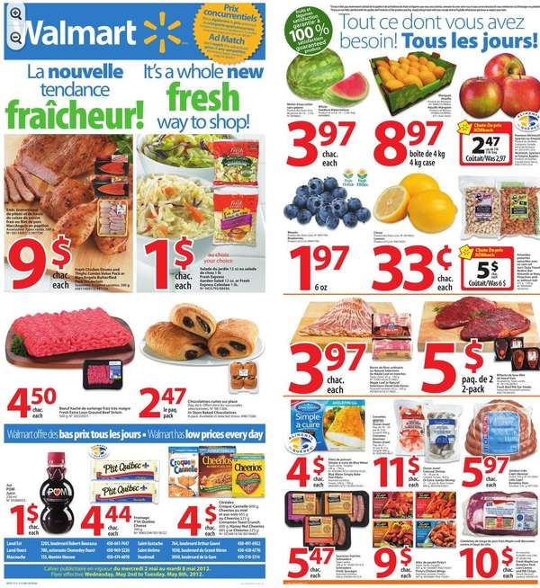 Walmart Supercentre(QC) flyer May 2 to 8