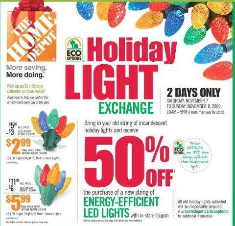 Home Depot Christmas Lights Exchange