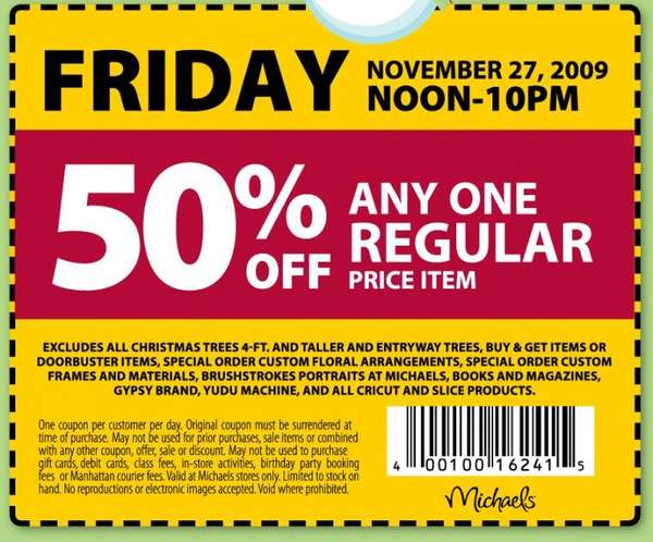 Michaels coupons ontario