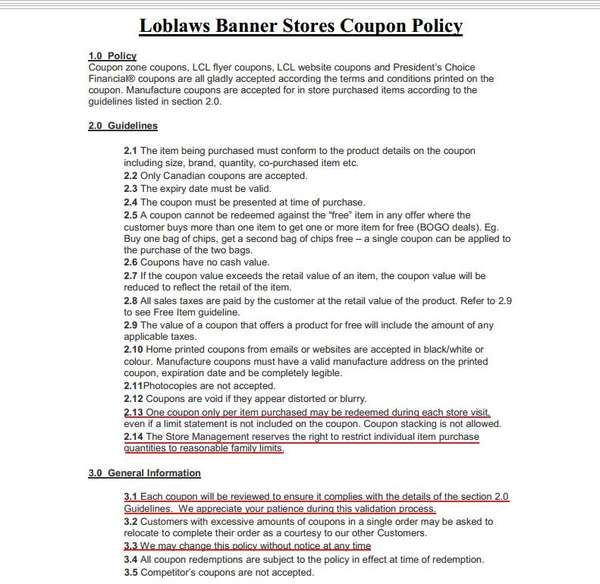 Name:  New Loblaws Coupon Policy June 2012.jpg Views: 173 Size:  52.0 KB
