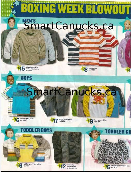 Old Navy Canada Boxing Week / Day Flyer Deals! Hot!