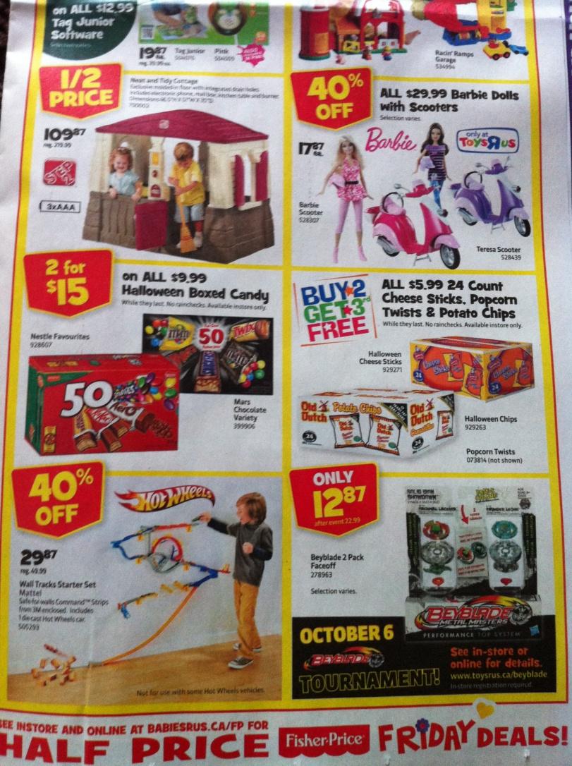 Toys R Us Flyer : Toys r us flyer ontario september october