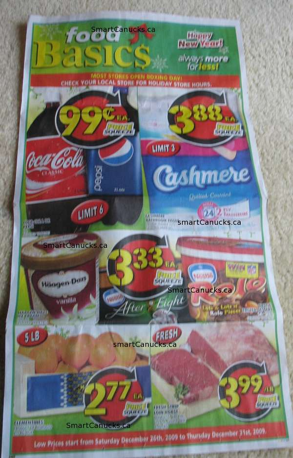 food basics boxing day  week  flyer  grocery stores flyers