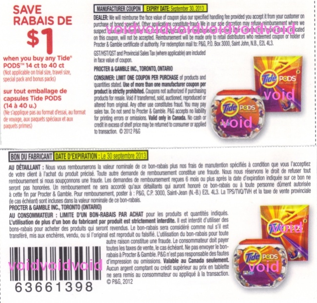 Tide coupons canada 2018