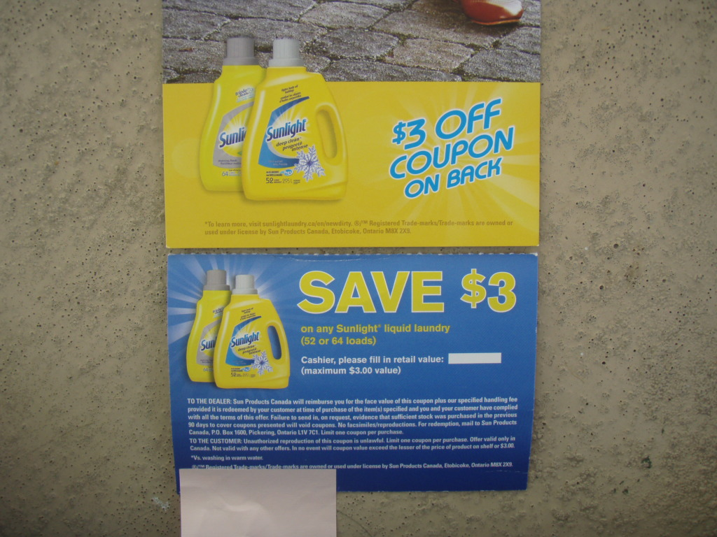 All laundry detergent coupon 2018