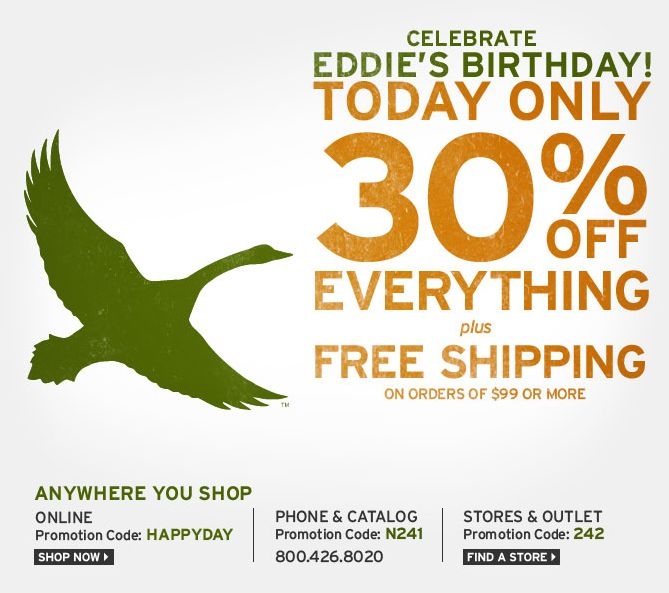 Coupon eddie bauer outlet