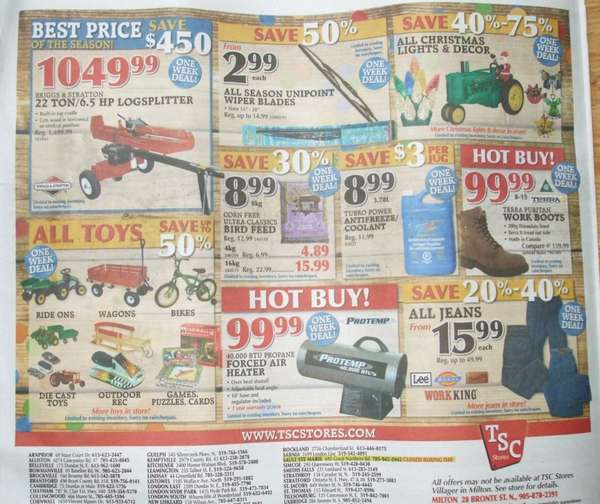 Tsc flyer deals - Samurai blue coupon