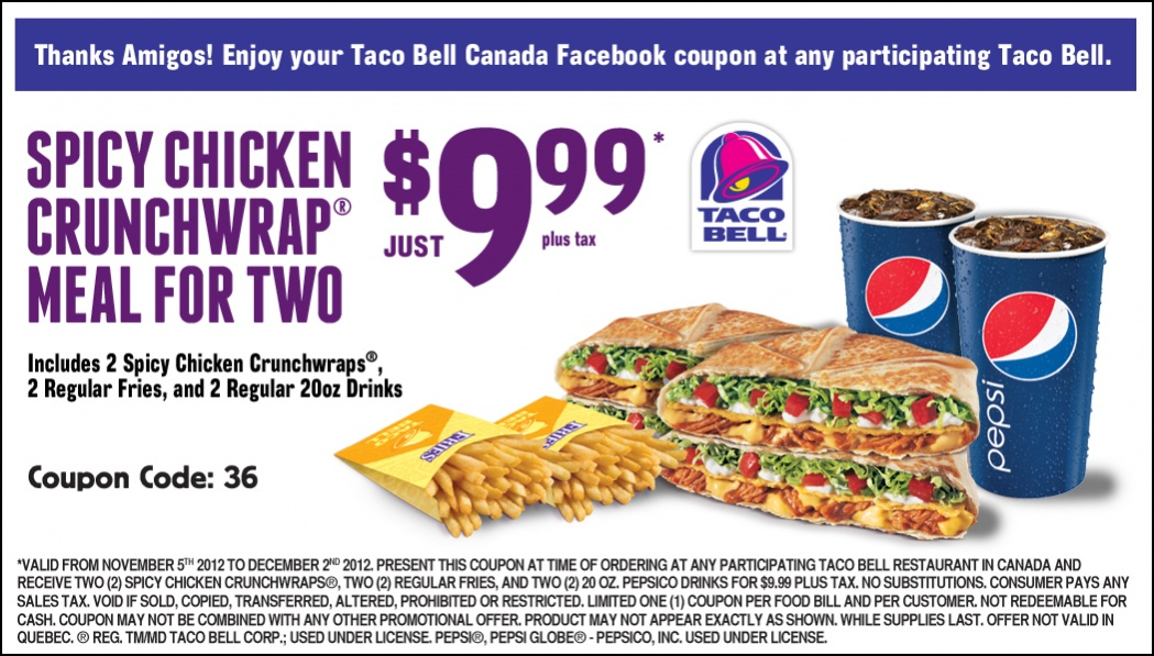 Taco Bell Combo Menu Prices Taco Bell Menu Prices