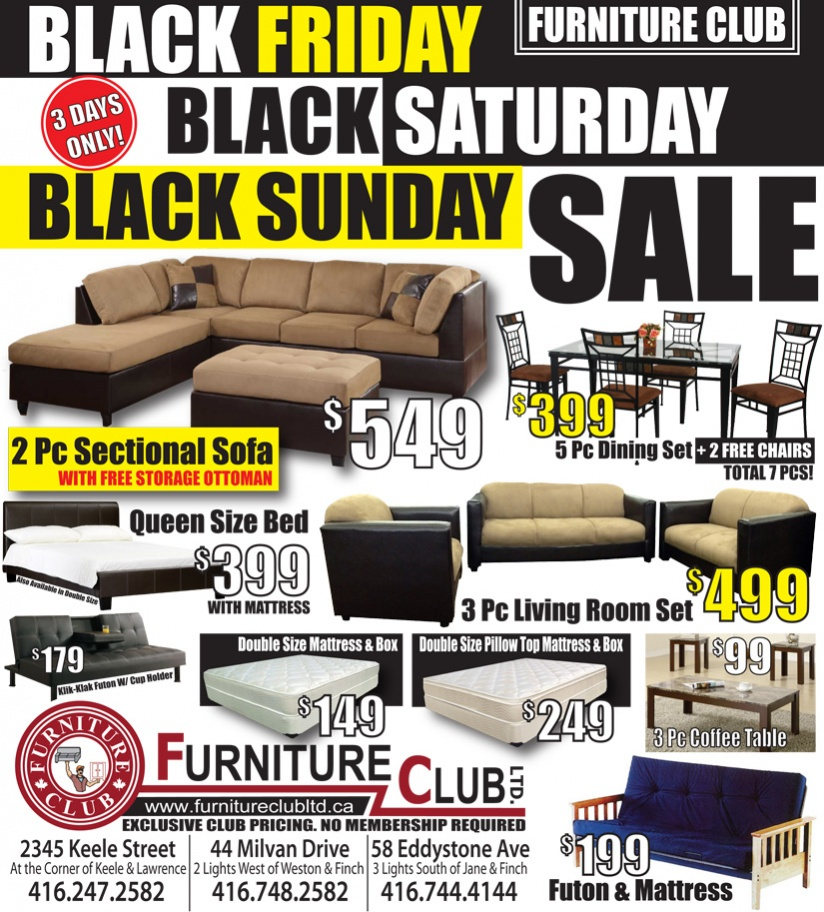 Furniture club black friday flyer for Furniture black friday