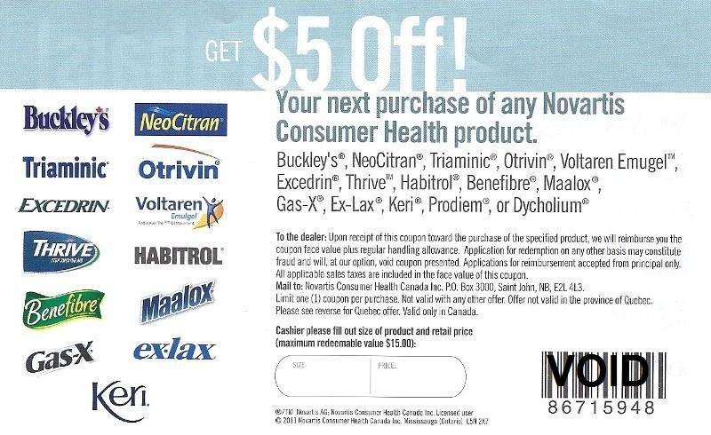 Novartis coupons canada