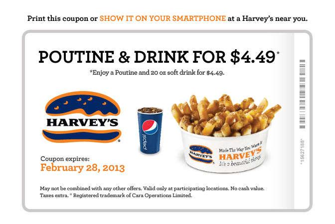 Fast food coupons bc