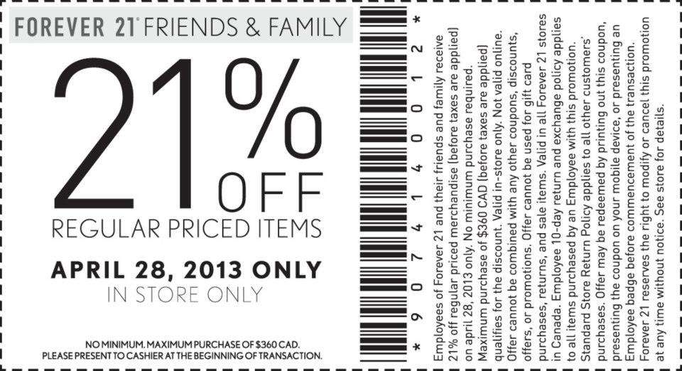 picture relating to Forever 21 Printable Coupons called Totally free printable shop discount codes eternally 21 / Elephant wine