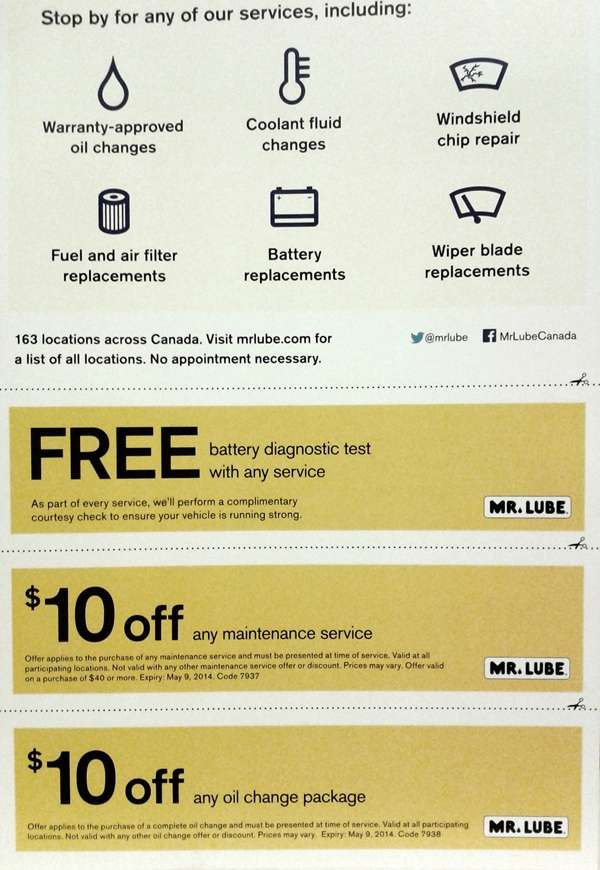 Mr lube discount coupons
