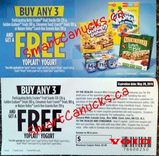 Yoplait tubes coupons