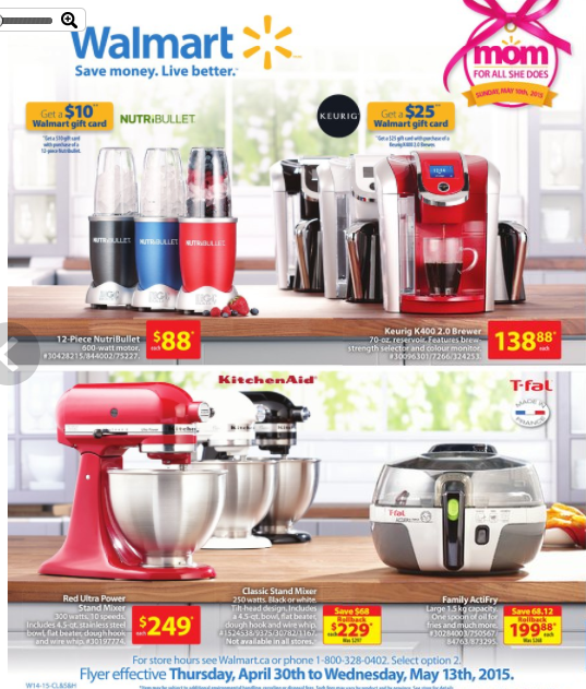 WALMART Appliance Flyer April 30thMay 13th