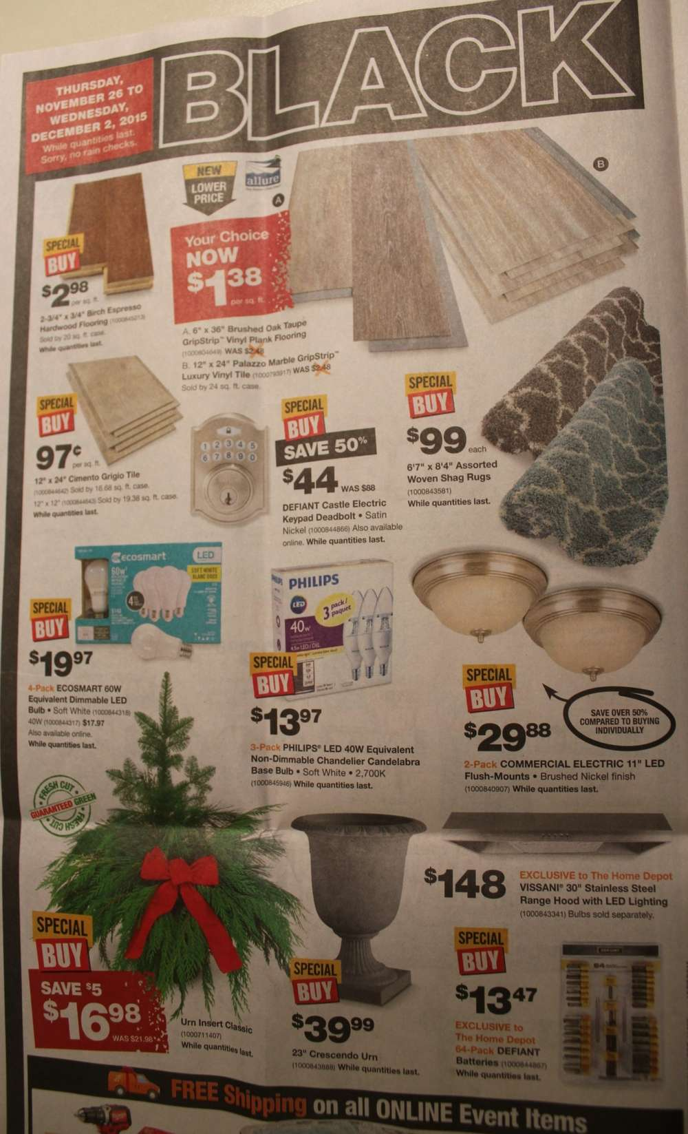Home Depot Black Friday: August 2017