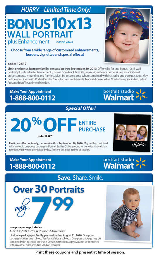 Walmart canada portrait studio coupons 2018