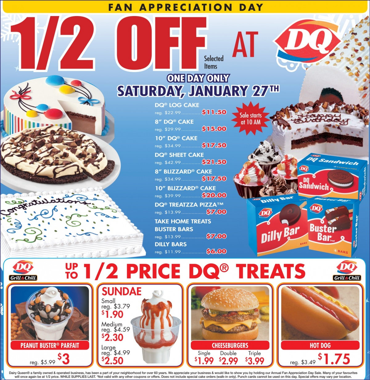 Dairy Queen (select locations Fan Appreciation Day: Select items at ...