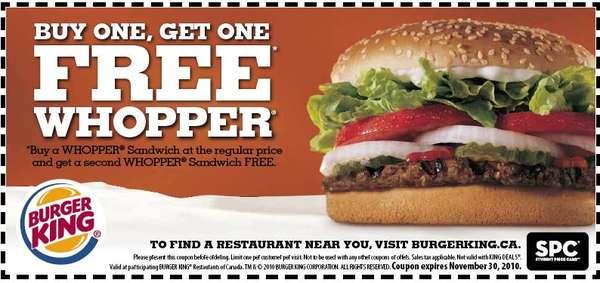 Voucher burger king