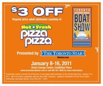 Torontoboatshow Promo Codes We have 1 torontoboatshow coupons for you to consider including 0 promo codes and 1 deals in November Grab a free dendeseabli.cf coupons .