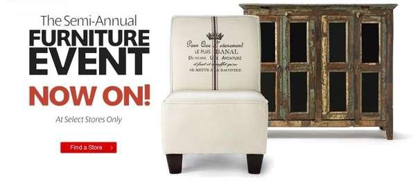 Homesense Semi Annual Furniture Event At Select Stores