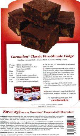 Carnation Evaporated Milk 25 162 Classic Five Minute Fudge