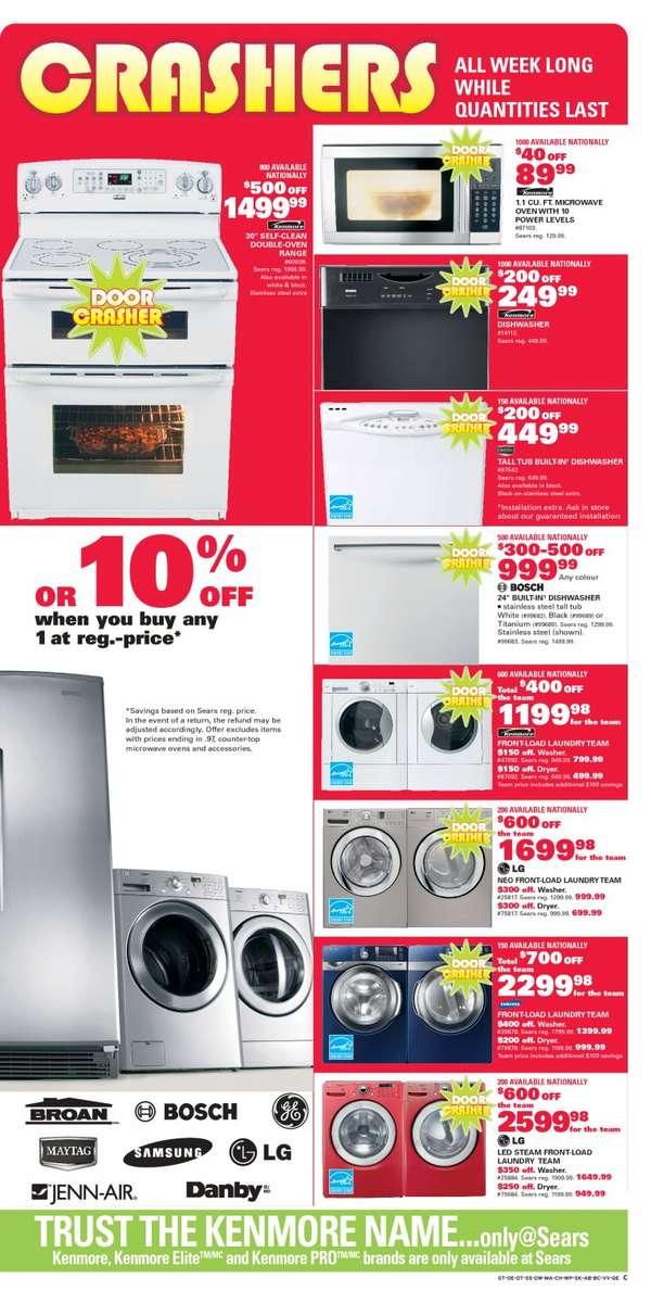 Sears Major Appliances Furniture Mattresses Electronics Flyer
